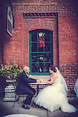 Kiia + Michael's beautiful Distillery District Bellagio wedding in Toronto