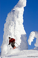 Brian Schott Skis among the snowghosts of Whitefish Mountain Resort in Montana model released