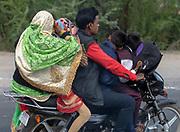 Family on motorbike. Rajasthan, India.