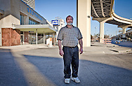 Abdulrahman Zeitoun in front of the Greyhound bus station where he was detained in the aftermath of Hurricane Katrina. Zeitoun's Post-Katrina nightmare of indefinite detention was chronicled by writer Dave Eggers in the book 'Zeitoun' in 2009, is in legal trouble for assaulting his now ex-wife, Kathy Zeitoun.