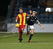 16th December 2017, Dens Park, Dundee, Scotland; Scottish Premier League football, Dundee versus Partick Thistle; Partick Thistle's Martin Woods and Dundee's A-Jay Leitch-Smith