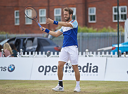 LIVERPOOL, ENGLAND - Sunday, June 23, 2019: Paulo Lorenzi (ITA) during the Men's Final on Day Four of the Liverpool International Tennis Tournament 2019 at the Liverpool Cricket Club. (Pic by David Rawcliffe/Propaganda)