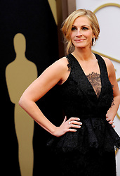 Julia Roberts arriving to the 2014 Oscars at the Hollywood and Highland Center in Hollywood, California, USA,  Sunday, 2nd March 2014. Picture by Hollywood Bubbles / i-Images<br /> UK ONLY