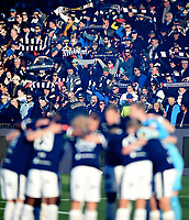 Fotball , 12. april 2019 , Eliteserien , Strømsgodset - Mjøndalen<br /> ilustrasjon , SIF  banner , publikum , fan , fans , ÆLV CLASSICO