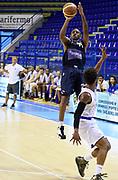 DESCRIZIONE : Porto San Giorgio PreCampionato Lega A 2015-16 Auxilium Cus Torino Enel Brindisi GIOCATORE : Ian Miller<br /> CATEGORIA : Tiro Three Points<br /> SQUADRA : Auxilium Cus Torino<br /> EVENTO :  PreCampionato Lega A 2015-16<br /> GARA : Auxilium Cus Torino Enel Brindisi<br /> DATA : 04/09/2015<br /> SPORT : Pallacanestro <br /> AUTORE : Agenzia Ciamillo-Castoria/A.Giberti<br /> Galleria :  Campionato Lega A 2015-16  <br /> Fotonotizia :  Auxilium Cus Torino Enel Brindisi<br /> Predefinita :