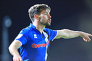 Joe Rafferty during the EFL Sky Bet League 1 match between Swindon Town and Rochdale at the County Ground, Swindon, England on 18 October 2016. Photo by Daniel Youngs.