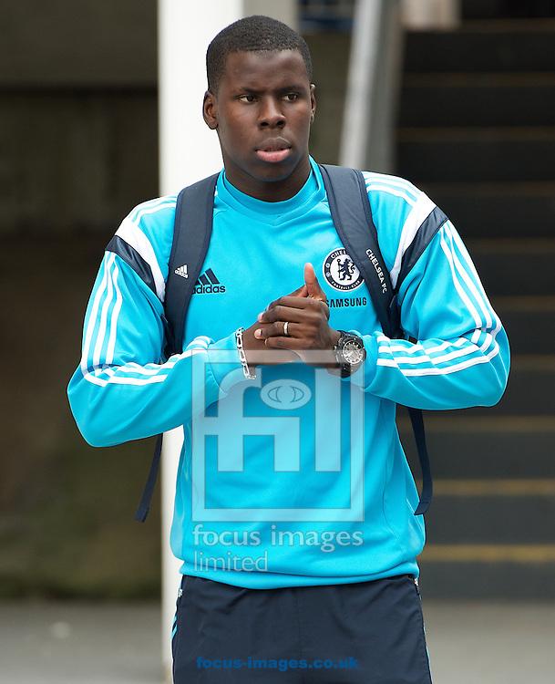 Kurt Zouma of Chelsea arriving for the Barclays Premier League match at Selhurst Park, London<br /> Picture by Alan Stanford/Focus Images Ltd +44 7915 056117<br /> 18/10/2014