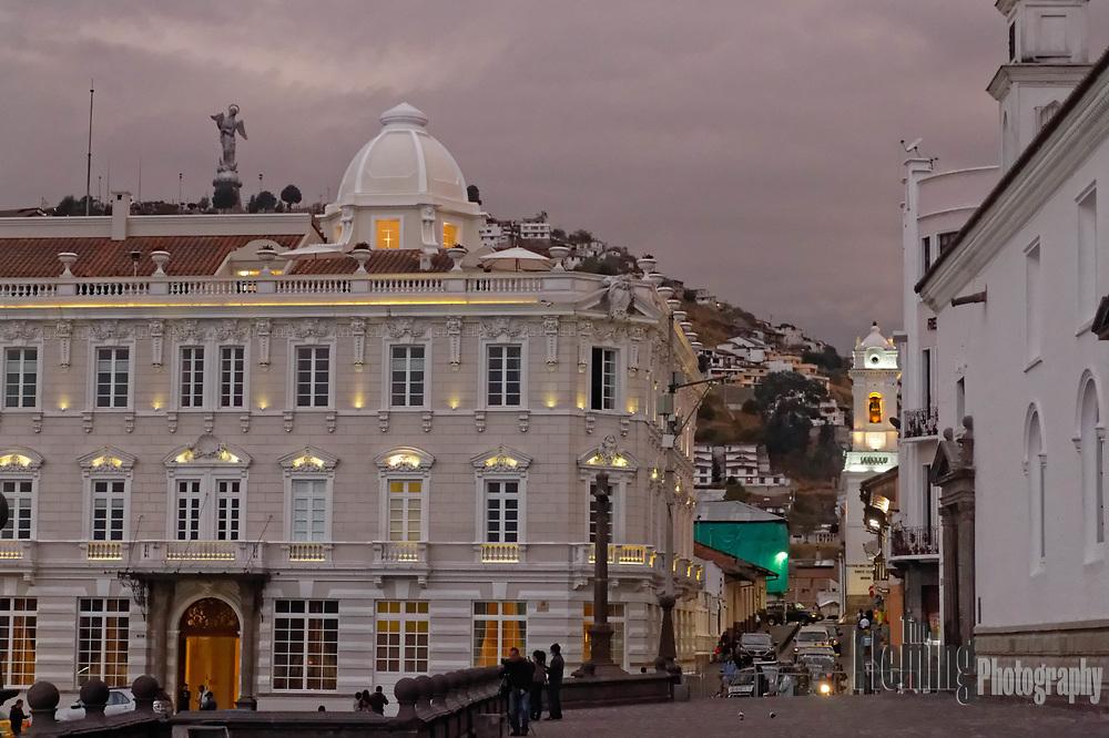Plaza de la Independencia (Plaza Grande) is the principal public square of Quito