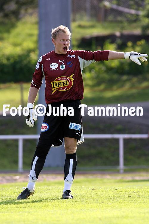 27.05.2007, Wikl?f Holding Arena, Mariehamn, Finland..Veikkausliiga 2007 - Finnish League 2007.IFK Mariehamn - FC Inter Turku.Antti Kuismala - IFK Mhamn.©Juha Tamminen.....ARK:k
