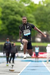 adidas Grand Prix Diamond League professional track & field meet: mens triple jump, Harold CORREA, France