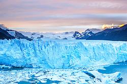 Perito Moreno Glacier in soft evening light, Patagonia, Argentina, South America