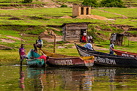 The fishing village of Katunguru, on the Kazinga Channel, in Queen Elizabeth National Park, Uganda.