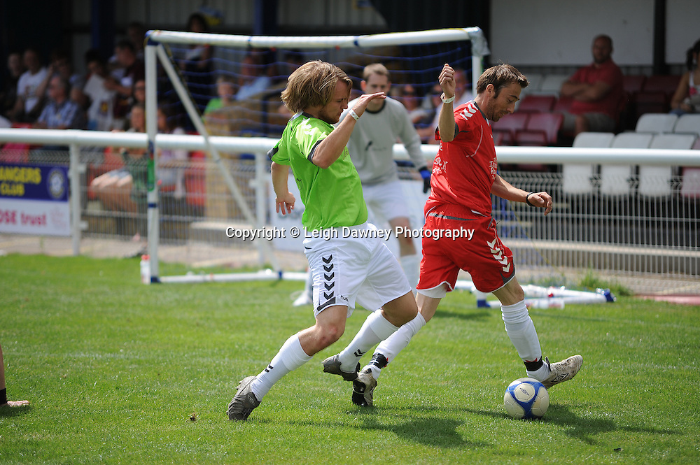 Highlights from The Indee Rose Trust, Charity football tournament featuring boxing and tv personalities. The Concord Rangers FC, Canvey Island, Essex, 14th August 2011. Photo credit: Leigh Dawney 2011