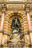 Saint Michaels fountain in the city of Paris in france