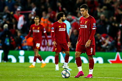 Roberto Firmino of Liverpool cuts a dejected figure - Mandatory by-line: Robbie Stephenson/JMP - 02/10/2019 - FOOTBALL - Anfield - Liverpool, England - Liverpool v Red Bull Salzburg - UEFA Champions League Group Stage