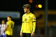 Aston Villa U21 defender Ben Swift (3) during the Barclays U21 Premier League match between U21 Brighton and Hove Albion and U21 Aston Villa at the Checkatrade.com Stadium, Crawley, England on 7 March 2016.
