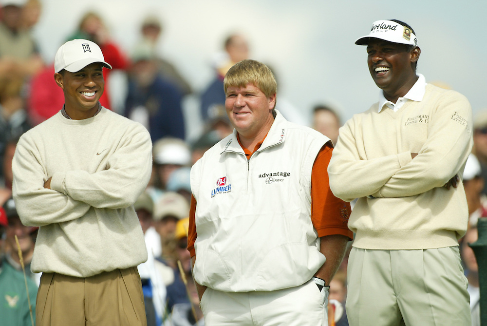 Tiger Woods .John Daly .Vijay Singh.(L-R)..2004 PGA Championship.First Round.Whistling Straits.Haven, WI.Thursday, August 12 2004..photograph by Darren Carroll