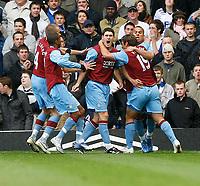 Photo: Steve Bond/Sportsbeat Images.<br /> Birmingham City v Aston Villa. The FA Barclays Premiership. 11/11/2007. Gareth Barry  (C) joins in the celebrations