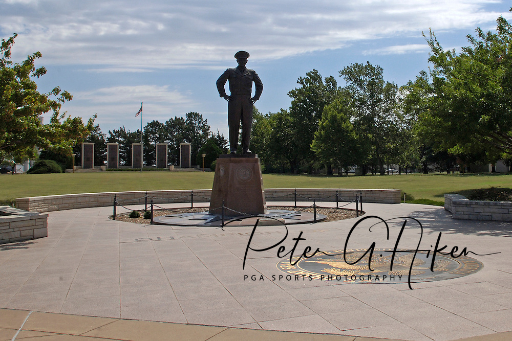 A statue of General Dwight D. Eisenhower at the Eisenhower Center in Abilene, Kansas.