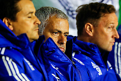 Chelsea Manager Jose Mourinho looks on from the dugout - Mandatory byline: Rogan Thomson/JMP - 07966 386802 - 23/09/2015 - FOOTBALL - Bescot Stadium - Walsall, England - Walsall v Chelsea - Capital One Cup.