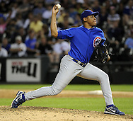 CHICAGO - JUNE 20:  Carlos Marmol #49 of the Chicago Cubs pitches against the Chicago White Sox on June 20, 2011 at U.S. Cellular Field in Chicago, Illinois.  The Cubs defeated the White Sox 6-3.  (Photo by Ron Vesely)  Subject:  Carlos Marmol