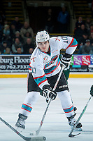 KELOWNA, CANADA - JANUARY 08: Nick Merkley #10 of Kelowna Rockets skates with the puck against the Everett Silvertips on January 8, 2016 at Prospera Place in Kelowna, British Columbia, Canada.  (Photo by Marissa Baecker/Shoot the Breeze)  *** Local Caption *** Nick Merkley;