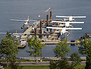Downtown, Waterside. Harbour Air float planes.