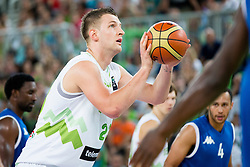 Alen Omic of Slovenia during friendly basketball match between National teams of Slovenia and G. Britain, on August 20, 2016 in Arena Stozice, Ljubljana, Slovenia. Photo by Urban Urbanc / Sportida