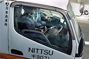 delivery van driver on the highway Japan