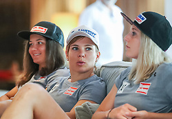 23.06.2017, Hotel Forsthofgut, Leogang, AUT, OeSV, Schwimmtraining Damen Speed Team, im Bild Sabrina Maier (AUT), Nicole Schmidhofer (AUT), Cornelia Hütter (AUT) // during a swimmtraining of the Austrian Ladies Speed Team at the Hotel Forsthofgut, Leogang, Austria on 2017/06/23. EXPA Pictures © 2017, PhotoCredit: EXPA/ JFK