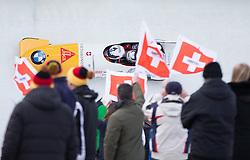 13.02.2016, Olympiaeisbahn Igls, Innsbruck, AUT, FIBT WM, Bob und Skeleton, Zweierbob Herren, 2. Lauf, im Bild Beat Hefti und Alex Baumann (SUI) // Beat Hefti and Alex Baumann of Switzerland competes during two men Bobsleigh 2nd run of FIBT Bobsleigh and Skeleton World Championships at the Olympiaeisbahn Igls in Innsbruck, Austria on 2016/02/13. EXPA Pictures © 2016, PhotoCredit: EXPA/ Johann Groder
