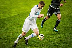 Domen Crnigoj of Slovenia during friendly football match between National teams of Slovenia and Belarus, on March 27, 2018 in SRC Stozice, Ljubljana, Slovenia. Photo by Vid Ponikvar / Sportida