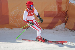 PYEONGCHANG-GUN, SOUTH KOREA - FEBRUARY 18: Marcel Hirscher of Austria winning a gold medal during the Alpine Skiing Men's Giant Slalom at Yongpyong Alpine Centre on February 18, 2018 in Pyeongchang-gun, South Korea. Photo by Ronald Hoogendoorn / Sportida