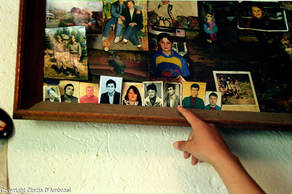In the village of Meje there is no men left. They were taken away by the Serbian police in a night raid. Since then most families don't know where they were taken to.  The official line is that they are missing.