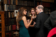 JEMIMA KHAN; MRS. ALAIN DE BOTTON; ALAIN DE BOTTON , Freud Museum dinner, Maresfield Gardens. 16 June 2011. <br /> <br />  , -DO NOT ARCHIVE-© Copyright Photograph by Dafydd Jones. 248 Clapham Rd. London SW9 0PZ. Tel 0207 820 0771. www.dafjones.com.