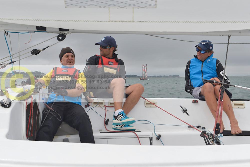 Eric Flageul, Bruno Jourden, Nicolas Vimont-Vicary - Stage d'entrainement avec l'equipe France de voile - Sonar a ENVSN, St Pierre de Quiberon