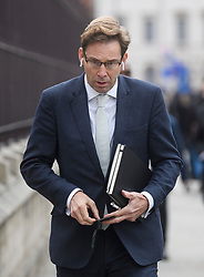 © Licensed to London News Pictures. 12/12/2018. London, UK. Conservative MP TOBIAS ELWOOD is seen entering Parliament in Westminster as Prime Minister Theresa May faces a vote of no confidence from her own party. Photo credit: Ben Cawthra/LNP