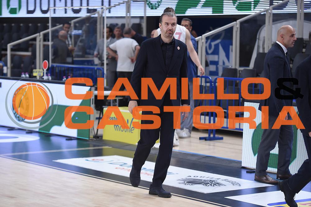Simone Pianigiani <br /> Dolomiti Energia Trento - EA7 Emporio Armani Playoff Finale gara 6<br /> Legabasket serieA 2017-2018<br /> Trento 15/06/2018<br /> Foto GiulioCiamillo/Ciamillo-Castoria