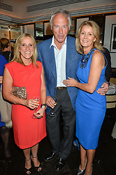 Left to right, FRANCIE CLARKSON, RICHARD CORFIELD and FI WIMOT-SITWELL at the Style for Soldiers dinner held at Le Caprice, 20 Arlington Street, London on 24th May 2016.