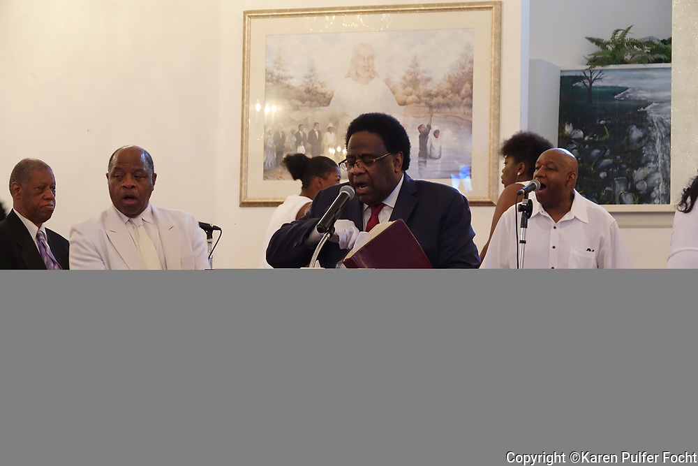 Rev. Al Green, in his church in Memphis, Tennessee