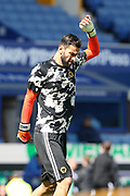 Wolverhampton Wanderers goalkeeper  Rui Patricio (11) warming up during the Premier League match between Everton and Wolverhampton Wanderers at Goodison Park, Liverpool, England on 1 September 2019.