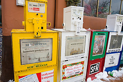 Newspaper headlines in Santa Fe, NM after a major snow storm dropped over 25 inches of fresh snow on the city, December 2006.<br />