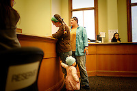 Lauren and Joan apply for their marriage license at City Hall, in San Francisco, CA, on Wednesday, June 18, 2008.
