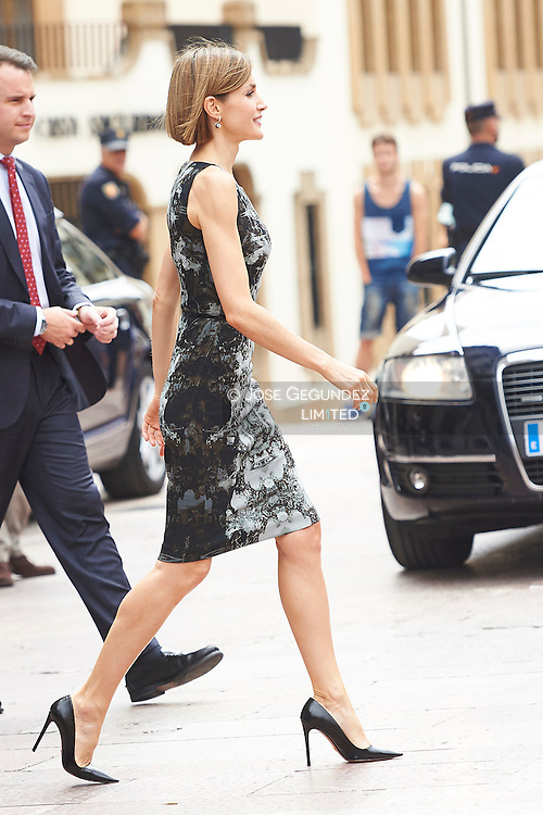 Queen Letizia of Spain attended the Opening of the summer courses of the International School of Music of the Princess of Asturias Foundation at Conservatory of Music 'Eduardo Martínez Torner' on July 16, 2015 in Oviedo, Asturias.