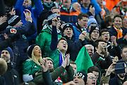 Northern Ireland fans ahead of the UEFA European 2020 Qualifier match between Northern Ireland and Netherlands at National Football Stadium, Windsor Park, Northern Ireland on 16 November 2019.