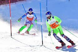 HARAUS Miroslav, Guide: HUDIK Maros, B2, SVK, Slalom at the WPAS_2019 Alpine Skiing World Cup Finals, Morzine, France