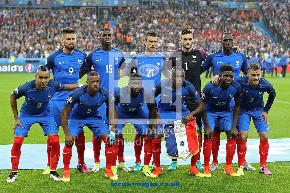 The France team before the quarter final match at Stade de France, Paris<br /> Picture by Paul Chesterton/Focus Images Ltd +44 7904 640267<br /> 03/07/2016