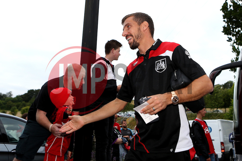 Gary O'Neil of Bristol City arrives at Wycombe Wanderers for the EFL League Cup 1st Round Match - Mandatory by-line: Robbie Stephenson/JMP - 09/08/2016 - FOOTBALL - Adams Park - High Wycombe, England - Wycombe Wanderers v Bristol City - EFL League Cup