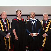 11.11.2016        <br /> LIT's graduation ceremonies are seeing 1700 people in diverse areas ranging from fashion design to engineering and from construction to marketing graduating.  The institute's ceremonies are taking place from five campuses in Limerick and Tipperary.<br /> <br />  graduate  receives the Award from Maria Finucane, LSAD in the presence of Prof. Vincent Cunnane President LIT and Mr. Niall Greene, Chairman. Picture: Alan Place