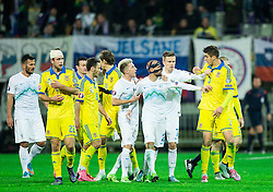 Miso Brecko (SLO) and Yevhen Khacheridi (UKR) during the UEFA EURO 2016 Play-off for Final Tournament, Second leg between Slovenia and Ukraine, on November 17, 2015 in Stadium Ljudski vrt, Maribor, Slovenia. Photo by Vid Ponikvar / Sportida